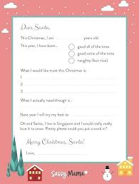 Free Letter From Santa Word Template Christmas Letter Template