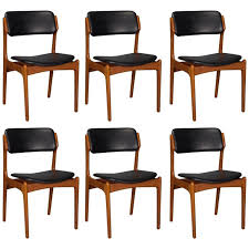 attractive reupholster dining chair leather styling up your set of six danish teak and leather dining