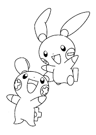 Lucario Mew Coloring Pages