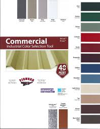 Steel Roof Color Chart Color Options Pioneer Steel Pipe Central Texas