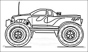 Small Picture Monster Truck Coloring Pages for Adults Color Zini