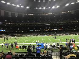 New Orleans Saints Superdome Seating Chart Superdome Section 116 New Orleans Saints Rateyourseats Com