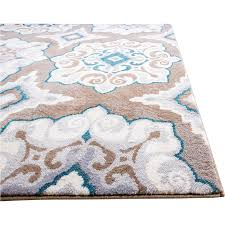 Teal Living Room Rug Andover Mills Natural Cerulean Blue Tan Area Rug Reviews