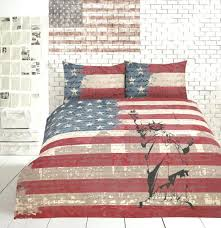 um image for retro vintage flag new york quilt cover set single double queen king american