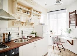 Small House Kitchen Bright Country House Kitchen Design In A Small Area With Simply