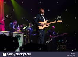U.S. Air Force Staff Sgt. Alberto Rosado-Perez, Heartland of America Band  guitarist, performs a solo