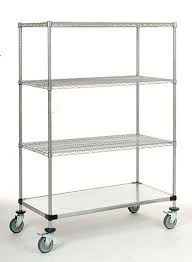 14 deep x 72 wide x 80 high 1200 lb capacity mobile unit with 3 wire shelves and 1 solid shelf by omega s corporation