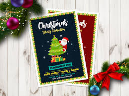 christmas party celebration flyer template in ai vector file