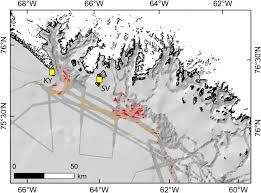 Hubbard Scientific Physiographic Chart Of The Seafloor Submarine Geomorphology Of Northeast Baffin Bay And Its