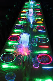 glow in the dark chandelier best party decorations ideas on