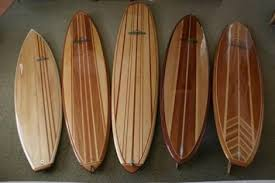 classic wooden surfboard designs