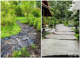 wood slab garden path 5 4 garden path design ideas walkway pathway diy wood slab garden