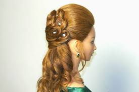 Bridal Hairstyle For Long Hair With Curls Youtube