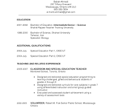 Entry Level Special Education Teacher Cover Letter Introduction To