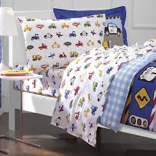 cars trucks airplane police car bedding for boys 5pc twin comforter set bed in a bag ensemble