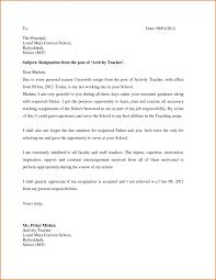 Resignation Letter Format For School Teacher Irpens Co