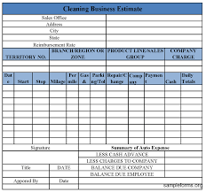 Auto Expense Report Form : Sample Forms