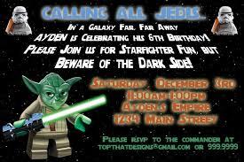 Star Wars Birthday Party Invitations Star Wars Birthday