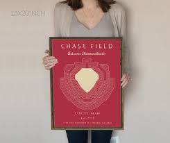Chase Field Az Seating Chart Chase Field Arizona Diamondbacks Chase Field Seating Chart Gift For Diamondbacks Fan Vintage Mlb Gift For Him Mlb Baseball Art