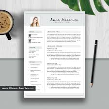 How To Create A Modern Resume In Word Simple Resume Template Word Job Cv Template Design Creative And Modern Resume Cover Letter Instant Download For 2019 2020 Professionals Anna