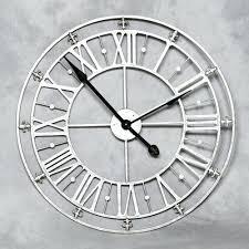 silver wall clocks contemporary clock next extra large