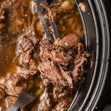 slow cooker shredded beef recipe