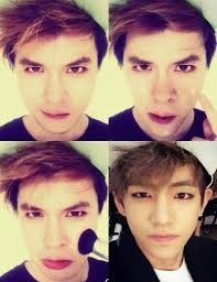 transforms into rihanna actor asian celebrity cute eyeliner famous handsome idol inspiring korean kpop makeup performer