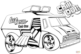 Small Picture Hot Wheels Ice Cream Truck coloring page Free Printable Coloring