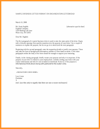 How To Write A Formal Letter Example Bio Letter Format