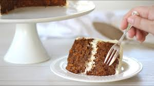 Carrot Cake Recipe With Cream Cheese Frosting Youtube