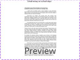 small essay on school days homework writing service small essay on school days it is very pleasant to recollect my school days i