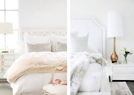 chicdeco blog decor trends white bedrooms with brass accents