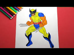 Small Picture Wolverine Coloring Pages For Kids Learn Colors For Kids YouTube