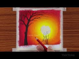 beautiful couple scenery drawing with