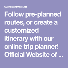 Follow Pre Planned Routes Or Create A Customized Itinerary With Our
