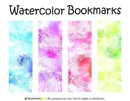 Color Flower Bookmark Template Free Easter Templates Synonym
