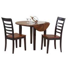 three piece dining set. Winners Only Contemporary Farmhouse 3 Piece Drop Leaf Table And Chair Set Three Dining
