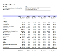 Income Expense Statement Template Income Statement Template 25 Free Word Excel Pdf