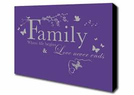 Purple Quotes Amazing Family Quote Where Life Begins Purple Quotes Prints Canvas
