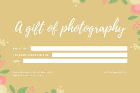 Photography Gift Certificate Template Gold Floral Baby Birth Photography Gift Certificate Templates By Canva