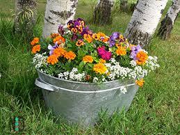 old wash tub flower pots nikki lynn