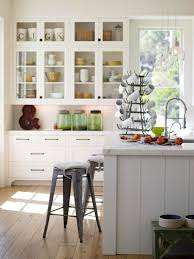 Small Cottage Kitchen Metal Stools And Rustic Wooden Floor For Small Cottage Kitchen
