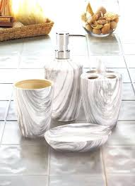 white and grey marble bathroom accessories details about 4 grey white faux marble bathroom accessories soap