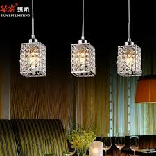 square pendant lighting 3head modern square led crystal chandeliers dining room regarding incredible home