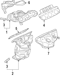parts com® mitsubishi outlander exhaust components oem parts diagrams 2008 mitsubishi outlander ls v6 3 0 liter gas exhaust components