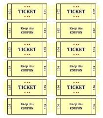 Microsoft Word Ticket Templates Gorgeous Avery Template Raffle Tickets Event Ticket Office Stub Free Download