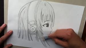 o dibujar manga 3 cara vista de perfil