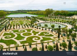 French Parterre Garden Design Versailles France May 8 2017 Orangerie Stock Photo Edit Now