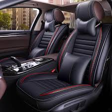 13pcs pu leather car full surround seat cover cushion protector set universal for 5 seats car cod