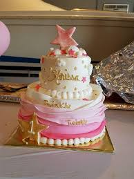 Twinkle Twinkle Little Star Birthday Cake For 1st Birthday Party